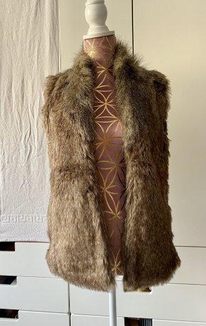 Primark Fake Fur Weste braun Größe XS