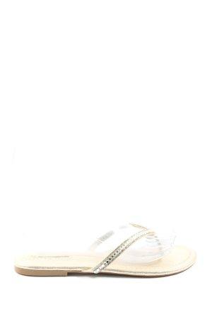 Primark Flip Flop Sandalen silberfarben Casual-Look