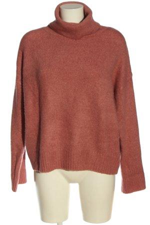 Primark Sweter z grubej dzianiny czerwony Melanżowy W stylu casual