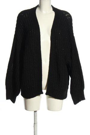 Primark Crochet Cardigan black cable stitch casual look