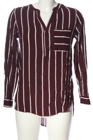 Primark Hemd-Bluse braun-weiß Streifenmuster Casual-Look