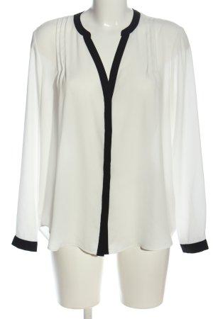 Primark Hemd-Bluse weiß-schwarz Business-Look