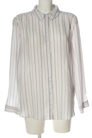 Primark Hemd-Bluse weiß-schwarz Streifenmuster Business-Look