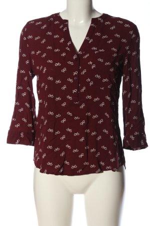 Primark Hemd-Bluse rot-weiß Allover-Druck Casual-Look