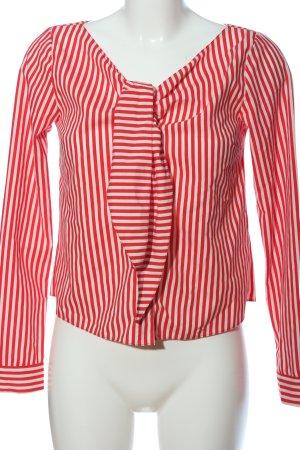 Primark Hemd-Bluse rot-weiß Allover-Druck Business-Look
