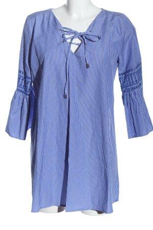 Primark Hemd-Bluse blau-weiß Streifenmuster Casual-Look