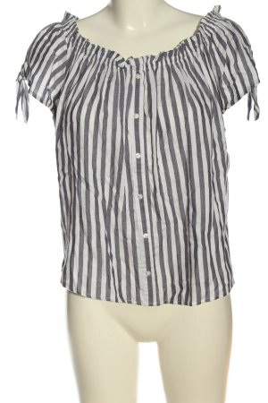 Primark Koszulowa bluzka biały-niebieski Na całej powierzchni W stylu casual