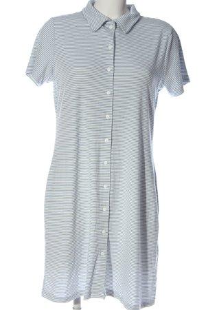 Primark Robe chemise blanc-bleu imprimé allover style décontracté