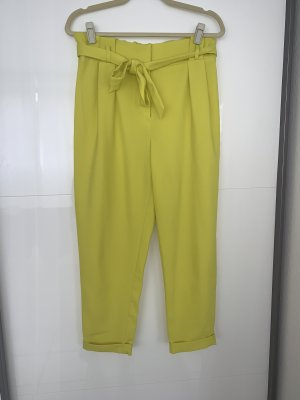 Primark Spodnie z wysokim stanem żółty neonowy-limonkowy żółty