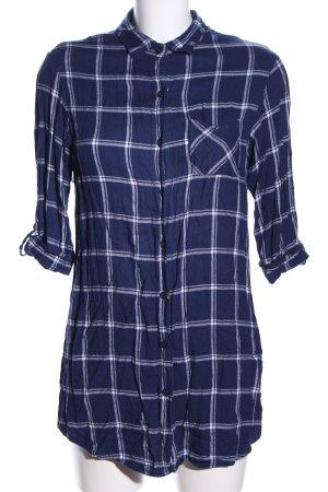 Primark Holzfällerhemd blau-weiß Karomuster Casual-Look