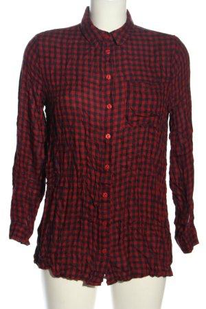 Primark Holzfällerhemd schwarz-rot Karomuster Casual-Look