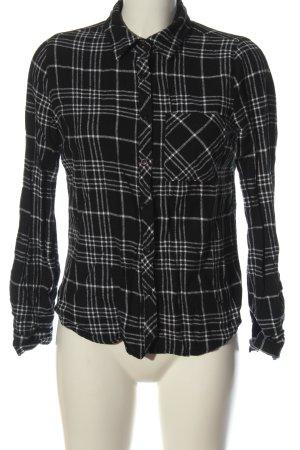 Primark Holzfällerhemd schwarz-weiß Allover-Druck Casual-Look