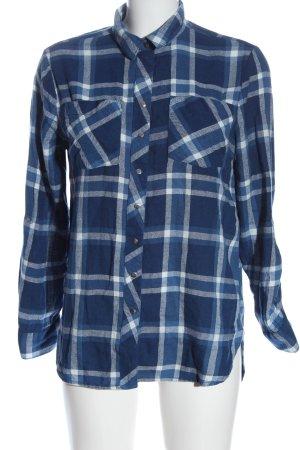 Primark Holzfällerhemd blau-weiß Allover-Druck Casual-Look