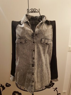 Primark Denim Shirt black-light grey
