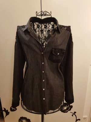 Primark Denim Shirt black