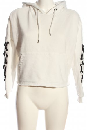 Primark Kapuzensweatshirt weiß-schwarz Casual-Look