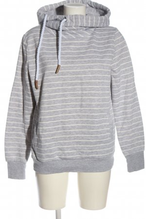 Primark Kapuzensweatshirt hellgrau-weiß meliert Casual-Look