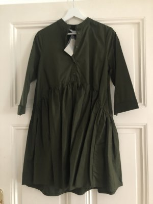Primark Peplum Dress dark green