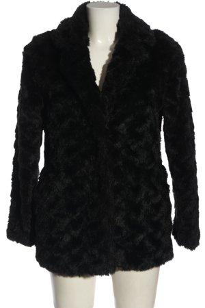 Primark Kurtka ze sztucznym futrem czarny W stylu casual