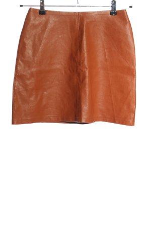 Primark Rok van imitatieleder licht Oranje casual uitstraling