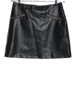 Primark Spódnica z imitacji skóry czarny W stylu casual