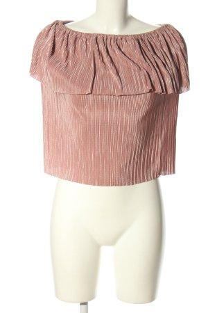 Primark Kurzarm-Bluse pink Streifenmuster Elegant