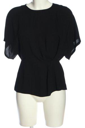 Primark Kurzarm-Bluse schwarz Elegant