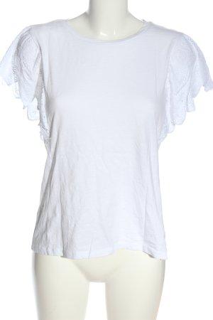 Primark Kurzarm-Bluse weiß Casual-Look