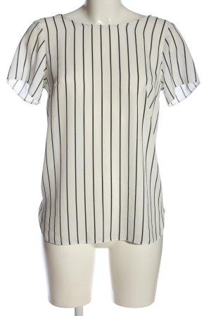 Primark Kurzarm-Bluse weiß-schwarz Streifenmuster Casual-Look