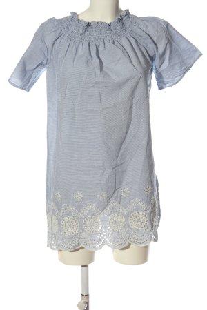 Primark Sukienka z krótkim rękawem niebieski-biały Wzór w paski