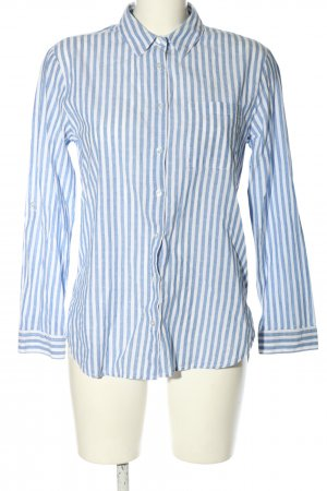 Primark Long Sleeve Blouse white-blue striped pattern casual look