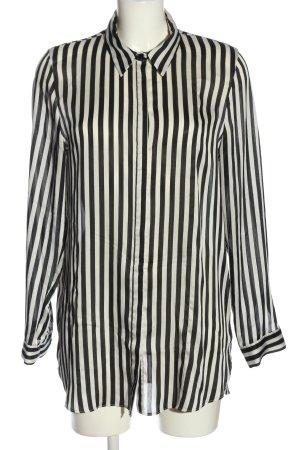 Primark Langarmhemd weiß-schwarz Streifenmuster Casual-Look