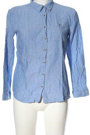 Primark Langarmhemd blau-weiß Allover-Druck Business-Look