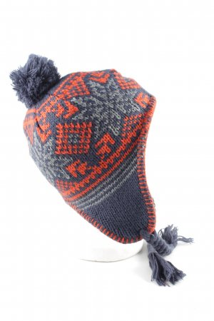 Primark Lapland Hat blue-light orange graphic pattern casual look