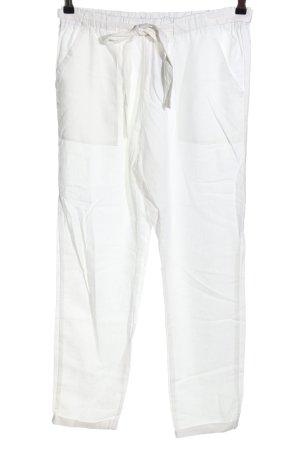 Primark Lniane spodnie biały W stylu casual