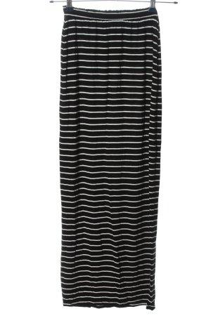 Primark Maxirock schwarz-weiß Streifenmuster Casual-Look