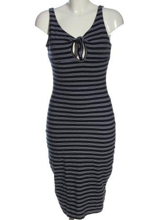 Primark Stretch Dress black-white striped pattern casual look