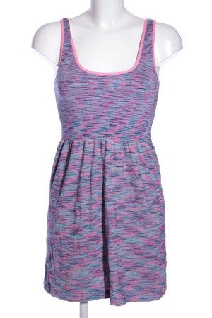 Primark Minikleid blau-pink meliert Casual-Look