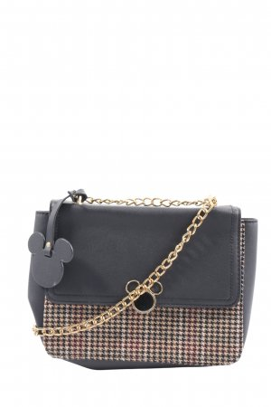 Primark Mini sac noir-brun motif à carreaux style décontracté