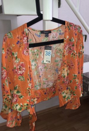 Primark Wraparound Blouse orange viscose