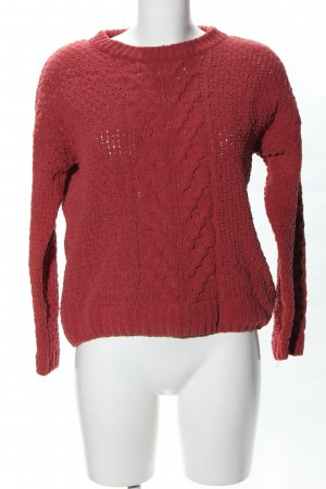 Primark Oversized Sweater red cable stitch casual look