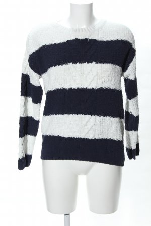Primark Oversized Sweater white-black striped pattern casual look