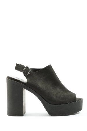 Primark Plateau-Sandaletten schwarz Elegant