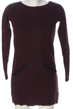 Primark Pulloverkleid rot-schwarz Casual-Look