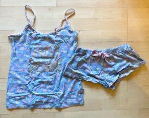 Primark Pyjama rose clair-bleu clair