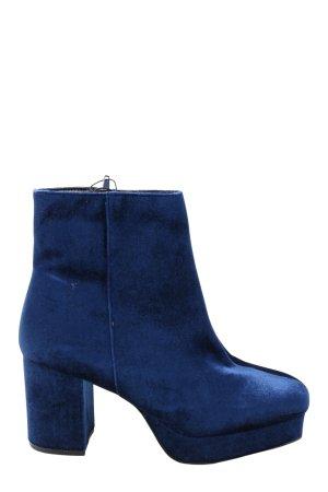 Primark Reißverschluss-Stiefeletten blau Casual-Look