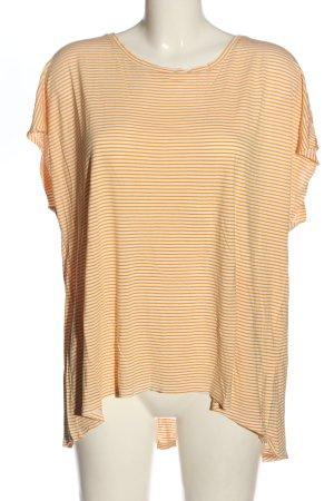 Primark Koszulka w paski biały-jasny pomarańczowy Na całej powierzchni