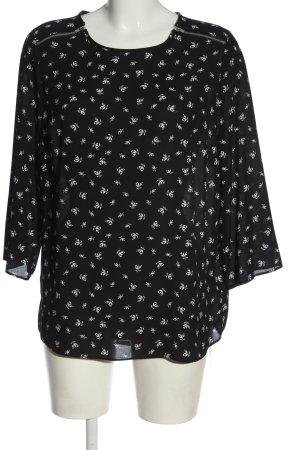 Primark Schlupf-Bluse schwarz-weiß Allover-Druck Casual-Look