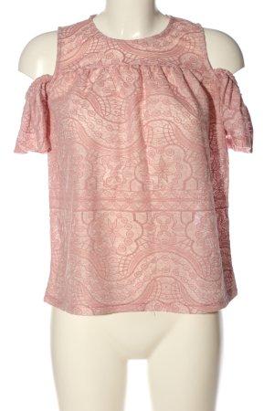 Primark Schlupf-Bluse pink Allover-Druck Casual-Look