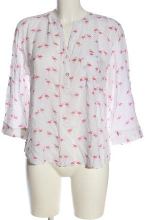 Primark Blusa caída blanco-rosa estampado de animales look casual